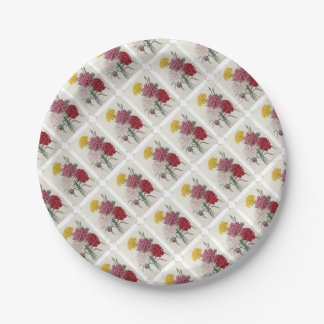 Vintage Dianthus - Photo Album Paper Plate