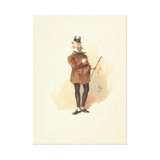 Vintage Dick Swiveller The Old Curiosity Shop Canvas Print
