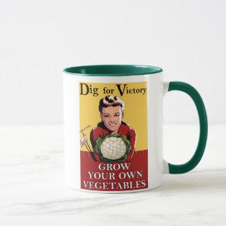 Vintage Dig for Victory Gift Mug