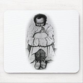 Vintage Dimensia Demented Man in Straight Jacket Mousepad