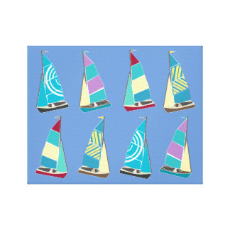 Vintage Dinghies Canvas Print