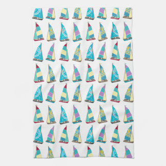 Vintage Dinghies Kitchen Towel