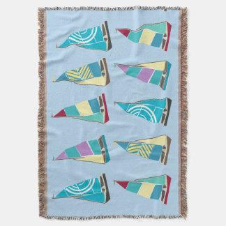 Vintage Dinghies Throw Blanket