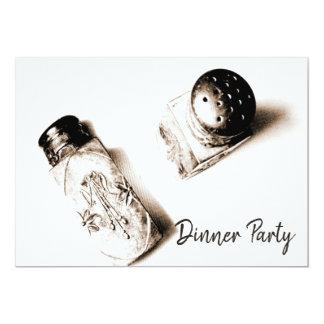 Vintage Dinner Party Elegant Salt & Pepper Shakers Card