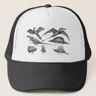 Vintage Dinosaur Illustration Retro Dinosaurs Trucker Hat