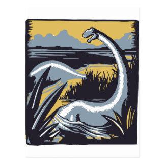 Vintage Dinosaur Postcard