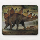 Vintage Dinosaur, Stegosaurus, Tail with Spikes Mousepads