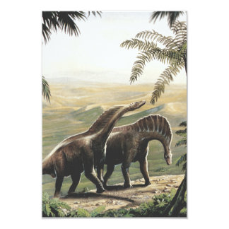 Vintage Dinosaurs, Amargasaurus with Palm Trees Card