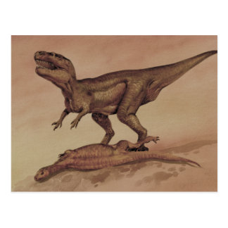 Vintage Dinosaurs, Carnivore Giganotosaurus Postcard