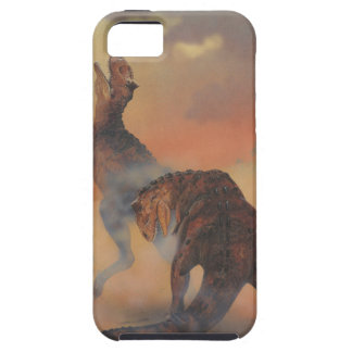 Vintage Dinosaurs, Carnotaurus Roaring in Jungle iPhone 5 Case