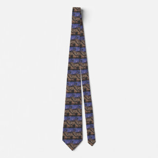 Vintage Dinosaurs, Dilophosaurus on a Starry Night Tie