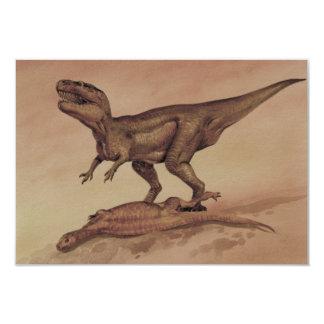Vintage Dinosaurs, Giganotosaurus Eating Prey Card