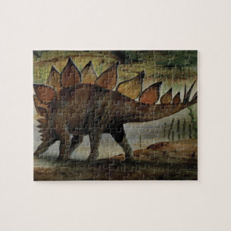 Vintage Dinosaurs, Stegosaurus, Tail with Spikes Puzzle