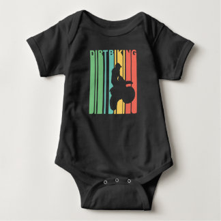 Vintage Dirt Biking Graphic Baby Bodysuit