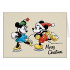Vintage Disney   Mickey & Minnie Ice Skating Card