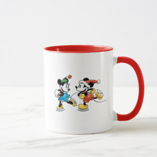 Vintage Disney | Mickey & Minnie Ice Skating Mug