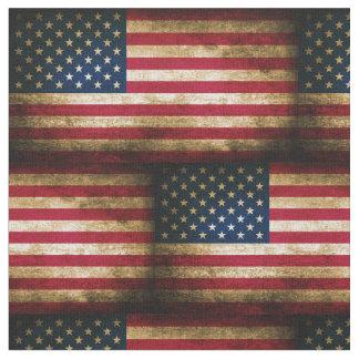 Vintage Distressed American Flag Fabric