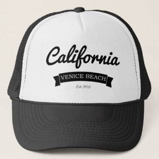 Vintage Distressed California Venice Beach Trucker Hat