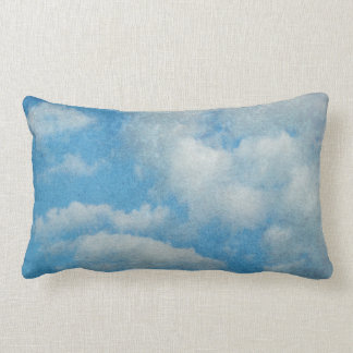 Vintage Distressed Clouds Background Lumbar Pillow
