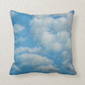 Vintage Distressed Clouds Background Throw Pillow