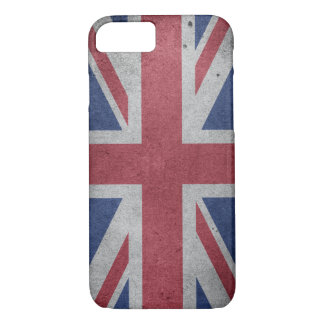Vintage Distressed Cross Flag of Great Britain iPhone 8/7 Case
