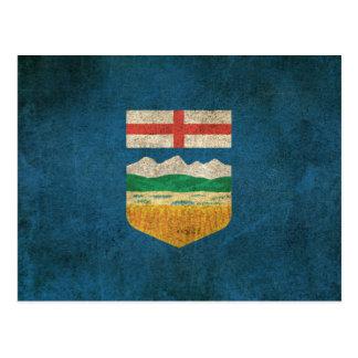 Vintage Distressed Flag of Alberta Postcard