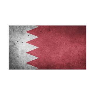 Vintage Distressed Flag of Bahrain Canvas Print