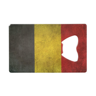 Vintage Distressed Flag of Belgium Wallet Bottle Opener
