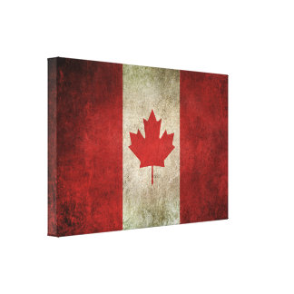 Vintage Distressed Flag of Canada Canvas Print