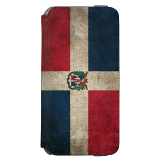 Vintage Distressed Flag of Dominican Republic Incipio Watson™ iPhone 6 Wallet Case