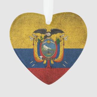 Vintage Distressed Flag of Ecuador Ornament