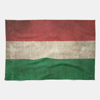 Vintage Distressed Flag of Hungary Kitchen Towels