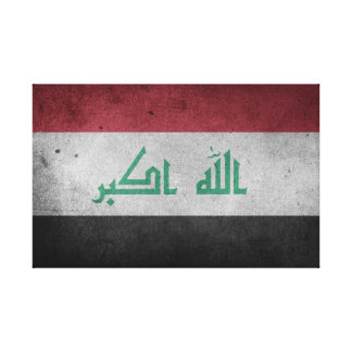 Vintage Distressed Flag of Iraq Canvas Print