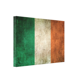 Vintage Distressed Flag of Ireland Canvas Print