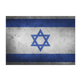 Vintage Distressed Flag of Israel Canvas Print