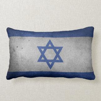 Vintage Distressed Flag of Israel Lumbar Pillow