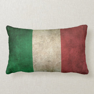 Vintage Distressed Flag of Italy Lumbar Pillow