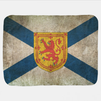 Vintage Distressed Flag of Nova Scotia Baby Blanket