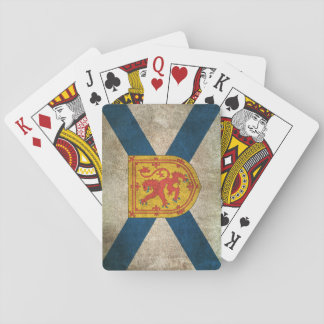 Vintage Distressed Flag of Nova Scotia Playing Cards