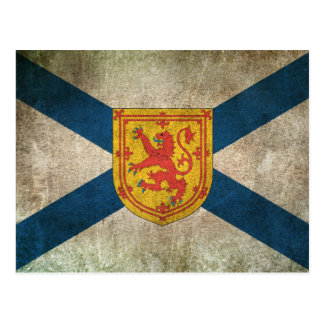 Vintage Distressed Flag of Nova Scotia Postcard