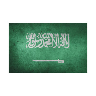 Vintage Distressed Flag of Saudi Arabia Canvas Print
