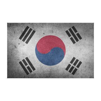 Vintage Distressed Flag of South Korea Canvas Print