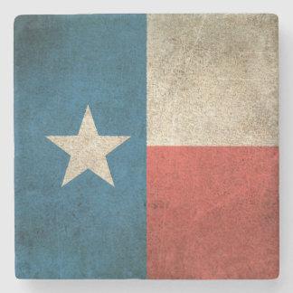 Vintage Distressed Flag of Texas Stone Beverage Coaster