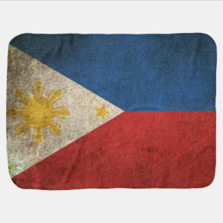 Vintage Distressed Flag of The Philippines Receiving Blanket