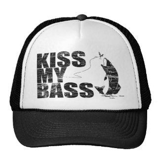 Vintage Distressed KISS MY BASS Hats