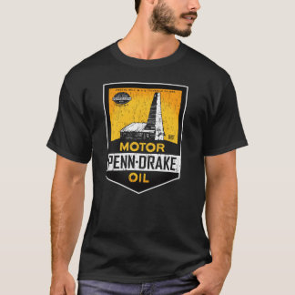 Vintage distressed Penn Drake Motor Oil sign T-Shirt