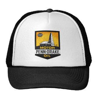 Vintage distressed Penn Drake Motor Oil sign Trucker Hat
