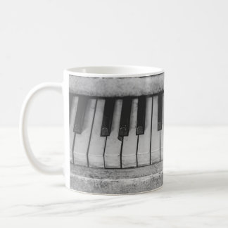 Vintage Distressed Piano Keyboard Mug