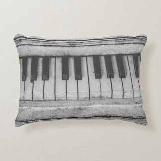 Vintage Distressed Piano Keyboard Pillow