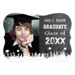 "Vintage Distressed Poster Style Grunge Graduation 5"" X 7"" Invitation Card"